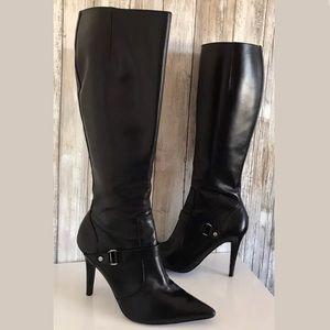 Lauren Ralph Lauren Boots SZ 7 Tall Pointed Buckle